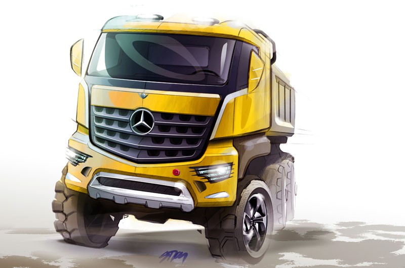 Mercedes-Benz представил новые строительные грузовики Arocs